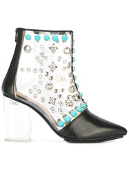 Toga Pulla Clear Vinyl Ankle Boots Black