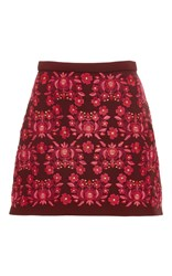 Cynthia Rowley Bonded Embroidered Skirt Print