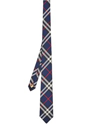 Burberry Modern Cut Vintage Check Tie Blue