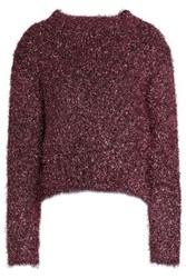 Ellery Metallic Sweater Pink