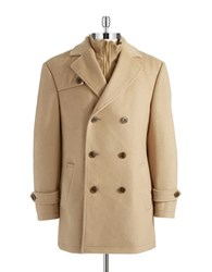 Lauren Ralph Lauren Layered Look Pea Coat Camel
