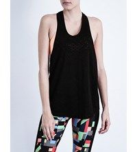 Sweaty Betty Avesha Cotton Blend Yoga Top Black