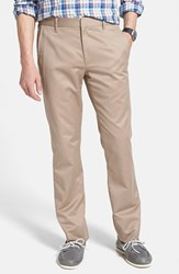 Men's Big And Tall Bonobos 'Weekday Warrior' Non Iron Slim Fit Cotton Chinos Wednesday Tans