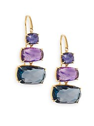 Marco Bicego Murano Semi Precious Multi Stone And 18K Yellow Gold Drop Earrings Gold Multi