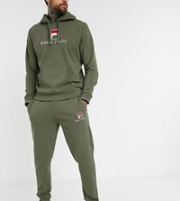 Fila Deno Essential Jogger In Khaki Exclusive At Asos Green