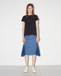 Sacai Denim Patchwork Skirt Light Blue