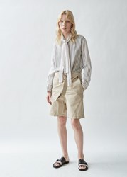 J.W.Anderson Jw Anderson Fold Front Cotton Utility Shorts Flax