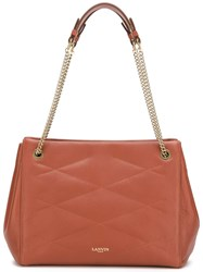 Lanvin Quilted Effect Tote Brown