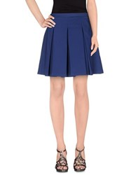 List Skirts Knee Length Skirts Women Dark Blue