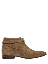 Saint Laurent 20Mm London Suede Ankle Boots