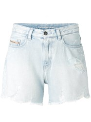 Calvin Klein Jeans Light Wash Denim Shorts Women Cotton 28 Blue