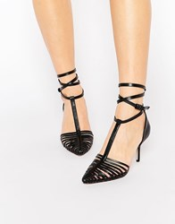 Asos Skyline Caged Pointed Heels Black