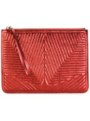 Golden Goose Deluxe Brand Quilted Star Clutch Red