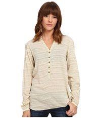 Burton Waterbury Woven Shirt Canvas Hatch Print Women's Long Sleeve Button Up Khaki