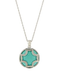 Elizabeth Showers Turquoise Maltese Pendant Necklace