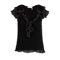 See By Chloe Pleated Blouse Black