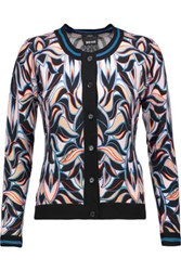 Just Cavalli Printed Wool And Cashmere Blend Cardigan Multi