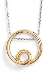 Jenny Bird Mini Loop Pendant Necklace Two Tone