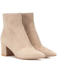 Gianvito Rossi Exclusive To Mytheresa.Com Piper 60 Suede Ankle Boots Beige