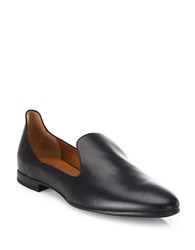 Aquatalia By Marvin K Emmaline Leather Loafers Black