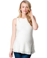 A Pea In The Pod Maternity Lace Tank Top Ivory