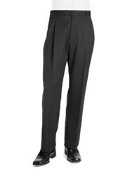 Palm Beach Stan Pleated Suit Pants Charcoal