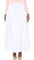 Rochas Yoke Maxi Skirt Natural