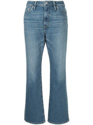 Hysteric Glamour Cropped Flared Jeans Blue
