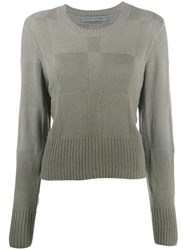 Raquel Allegra Cropped Geometric Patterned Jumper 60