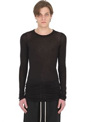 Rick Owens Ribbed Cotton Jersey Long Sleeves