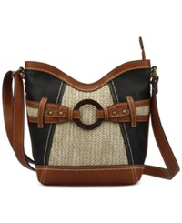 B.O.C. Nayarit Straw Crossbody Black