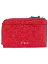 Furla Zipped Card Holder Men Leather One Size Red
