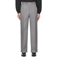 Msgm Grey Pleated Trousers