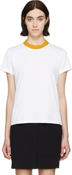 Harmony White Contrast Collar Thiphaine T Shirt