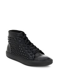 Steve Madden Jekyll Studded High Top Sneakers Black