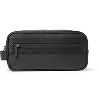 Alfred Dunhill Chassis Leather Trimmed Wash Bag Black