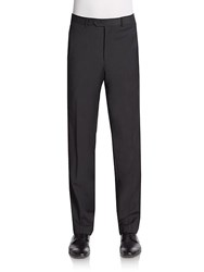 Saks Fifth Avenue Slim Fit Wool Trousers Charcoal