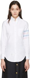 Thom Browne White Oxford Classic Shirt