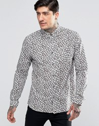 Pretty Green Shirt With All Over Floral Print Navy
