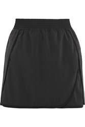 Nike Cotton Jersey And Crepe De Chine Tennis Skirt Black
