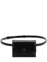 Balenciaga Xxs Sharp Smooth Leather Belt Bag Black