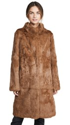 Adrienne Landau Rabbit Coat Luggage