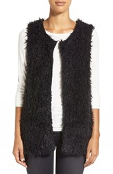 Women's Bobeau Faux Fur Vest Black
