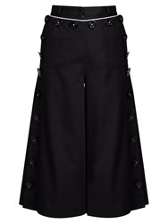 Dolce And Gabbana High Rise Flared Leg Culottes Navy