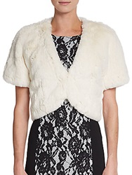 Lafayette 148 New York Faux Fur Bolero Cloud