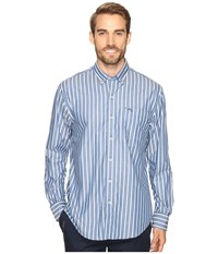 Tommy Bahama Cabana Stripe Long Sleeve Woven Shirt Bering Blue Men's Long Sleeve Button Up
