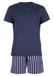 Hom Grand Hotel Set Pyjama Set Navy Blue