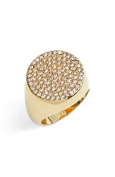 Vince Camuto Pave Circle Signet Ring Gold