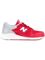 New Balance 420 Sneakers Men Leather Nylon Rubber 11 Red