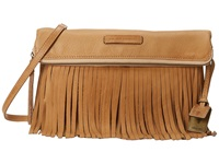 Frye Heidi Fringe Crossbody Beige Soft Vintage Leather Cross Body Handbags